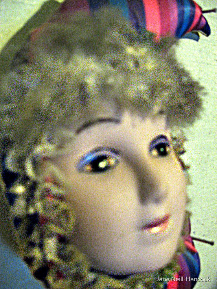 Victorian Porcelain Clown Doll by Jane Neill-Hancock