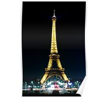 Paris at night- Eiffel Tower Poster
