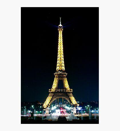 Paris at night- Eiffel Tower Photographic Print
