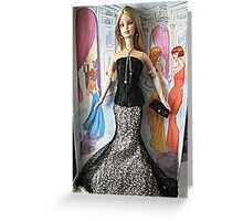 Society Girl Barbie, Full Doll View, Style Set Collection Greeting Card