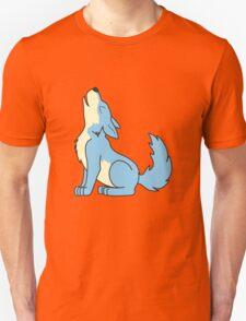 Light Blue Howling Wolf Pup T-Shirt