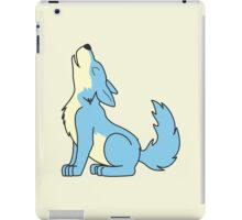 Light Blue Howling Wolf Pup iPad Case/Skin