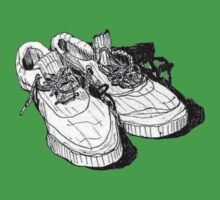 my old running shoes...  One Piece - Short Sleeve