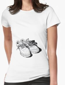 my old running shoes...  Womens Fitted T-Shirt