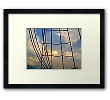 Through the Rigging Framed Print