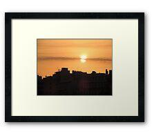 Sunrise in the city Framed Print
