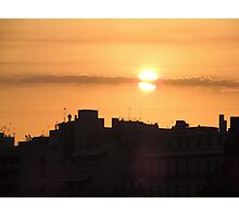 Sunrise in the city Photographic Print