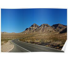 Highway through Nevada desert north of Lake Mead Poster