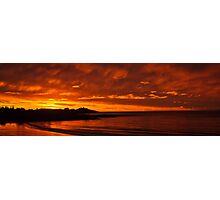 Fiery Beach Sunset Photographic Print