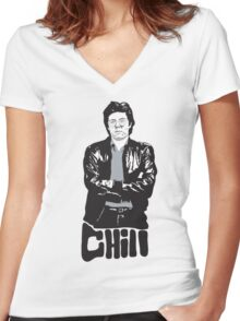 CHILL Man Women's Fitted V-Neck T-Shirt