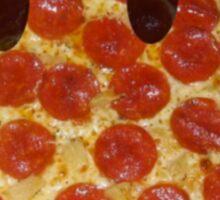 Pizza Smiley Sticker