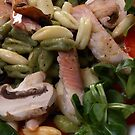 Salad With Cavatelli Misti And Smoked Trout by SmoothBreeze7