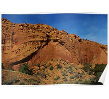 Beautiful red rock wall on Burr Trail Road, Utah Poster