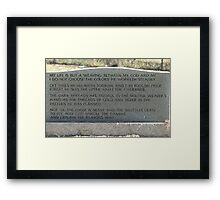 My Mother, Mary Jane Young's, Gravestone Framed Print