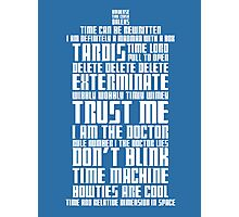 The Doctor Tardis Photographic Print