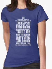 The Doctor Tardis Grunge version Womens Fitted T-Shirt