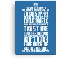 The Doctor Tardis Grunge version Canvas Print