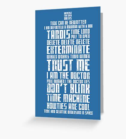 The Doctor Tardis Grunge version Greeting Card