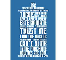 The Doctor Tardis Grunge version Photographic Print