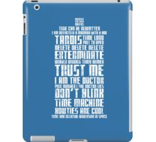 The Doctor Tardis Grunge version iPad Case/Skin