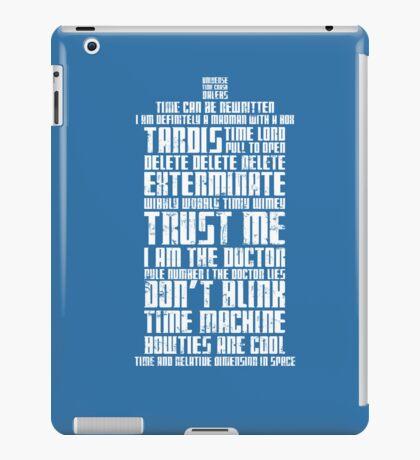 The Doctor Tardis Grunge version iPad Case/Skin