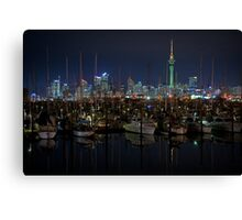 Auckland at night Canvas Print