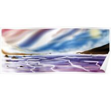 Digital Airbrush Sea picture Poster