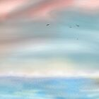 Airbrush Seascape digital drawing by Grant Wilson