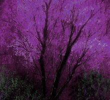 Tree and Purple Sky, Evening by artyfax