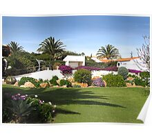 An Algarve winter garden. Poster