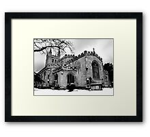 St Nicholas In The Snow. Framed Print