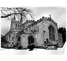 St Nicholas In The Snow. Poster