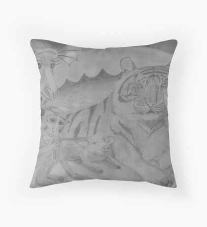 Family Portrait - in the year of the snake Throw Pillow