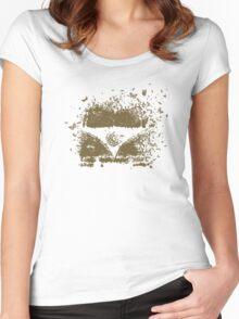 Camper Van of Butterflies Bees and Bugs Women's Fitted Scoop T-Shirt