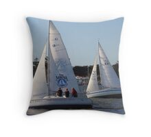 Much, much, much more than a yacht race Throw Pillow