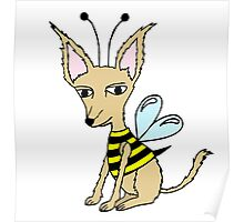 Puppy Bee Poster