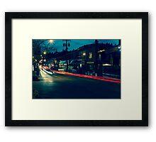 White Rock Beach Long Exposure Framed Print