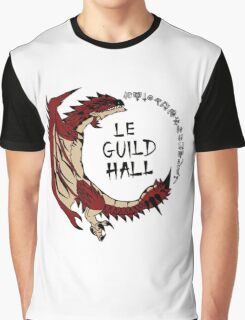 Monster Hunter Le Guild Hall-Rathalos Version 2 Base Colors Graphic T-Shirt
