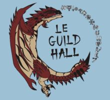 Monster Hunter Le Guild Hall-Rathalos Version 2 Base Colors Kids Tee