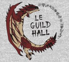 Monster Hunter Le Guild Hall-Rathalos Version 2 Base Colors One Piece - Long Sleeve