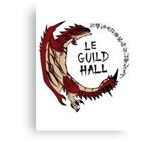 Monster Hunter Le Guild Hall-Rathalos Version 2 Base Colors Canvas Print
