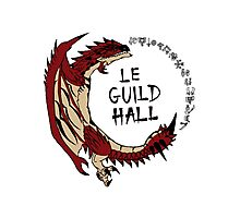 Monster Hunter Le Guild Hall-Rathalos Version 2 Base Colors Photographic Print