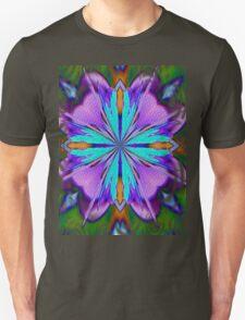 Colorful Purple And Turquoise Kaleidoscope Design Unisex T-Shirt