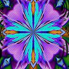 Colorful Purple And Turquoise Kaleidoscope Design by SmilinEyes