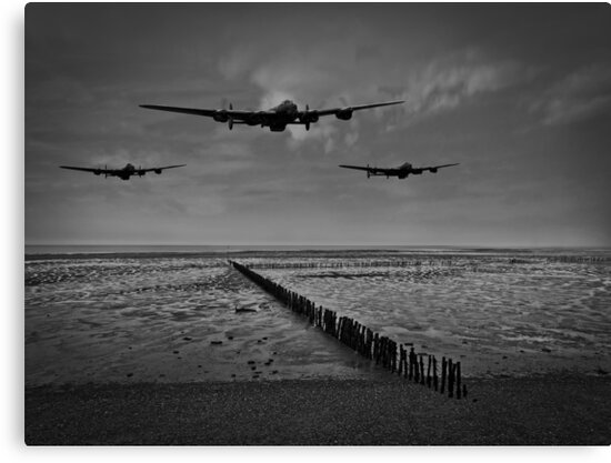 Enemy coast ahead, skipper - black and white version by Gary Eason + Flight Artworks