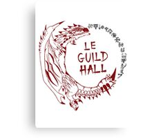 Monster Hunter Le Guild Hall-Rathalos Version 1 Uncolored Canvas Print