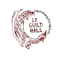 Monster Hunter Le Guild Hall-Rathalos Version 1 Uncolored Photographic Print