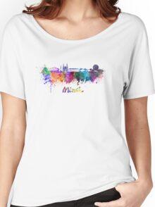 Minsk skyline in watercolor Women's Relaxed Fit T-Shirt