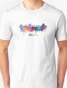 Minsk skyline in watercolor Unisex T-Shirt