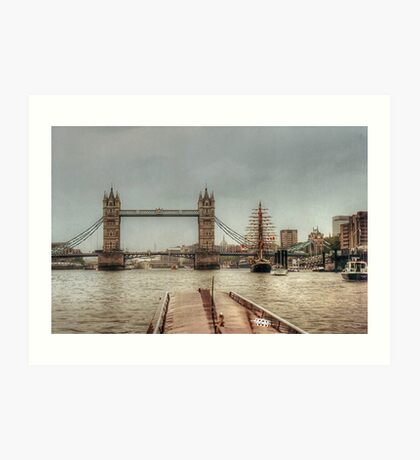 Waiting for Tower Bridge to open for us.......! Art Print